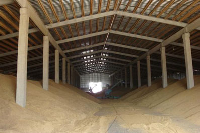 Зерно склад із зерном